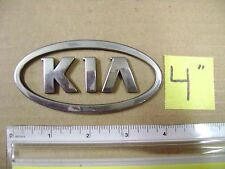 "KIA oval chrome plastic emblem 4"" rio soul forte optima sportage sedona sorento"