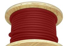 50' 2/0 AWG Welding Cable Red Flexible Outdoor Wire