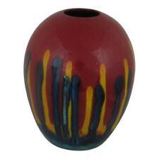 Anita Harris Art Pottery Delta Shaped Vase Red Mirage Design Exclusive Design