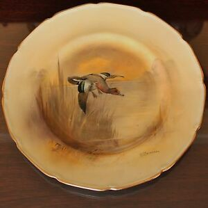 """Royal Doulton Hand Painted 9"""" Cabinet Plate, Widgeon by Harry Stevenson"""
