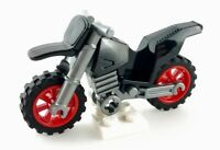 LEGO Black and Silver Motorcycle Dirt Bike Red Rim Part 50860c06 From Set 30447