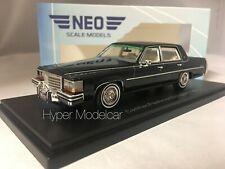 NEO SCALE MODEL 1/43 Cadillac Fleetwood Brougham 1980 Black NEO43559