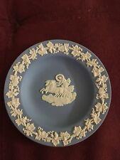 Wedgwood China Jasperware Blue & White Saucer! Great Condition! Usa Seller!