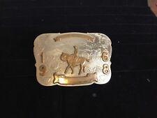 Vintage Irvine Jachens German Silver 1968 Cowboy Rodeo Champion Belt Buckle