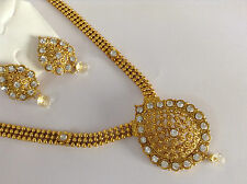 South IndianTraditional Jewellery White stone design necklace set & earring