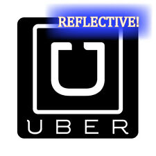 """2x REFLECTIVE Uber logo Waterproof Magnets Signs for vehicle 3.5""""x3.5"""""""