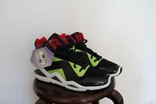 Reebok Kamikaze 3 III Mid NC- men's - size 11- Black/ sonic green/ Ex red