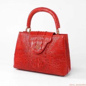 Handmade Genuine Alligator Crocodile Leather Ladies Woman Bag Handbag