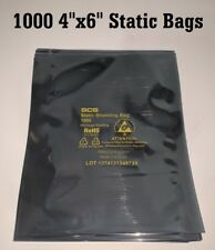 """1000 4""""x 6"""" ESD Anti-Static Discharge Shielding Bags Open-Top Lead-Free (10x100)"""