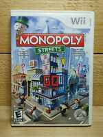 Monopoly Streets (Nintendo Wii, 2010) Complete Tested Party Multiplayer Game