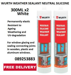 WURTH CARAVAN ROOF & SEAM SEALANT NEUTRAL CURE SILICON - 300ML x2 Tubes