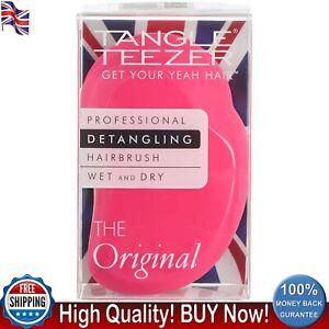 Tangle Teezer Original Detangling Hairbrush Pink Fizz Hair Brush Wet and Dry New