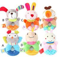 Baby Animal Handbells Musical Developmental Toy Bed Bells Soft Toys Rattle 13CM