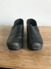 Dansko Clogs 38 Black Leather Professional Style