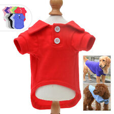 Basic Dog Polo Shirts Blank Color T-shirt for Large Medium Small Dogs Schnauzer