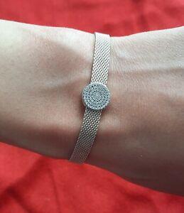 Authentic  Pandora Reflexions Mesh Bracelet With  clip