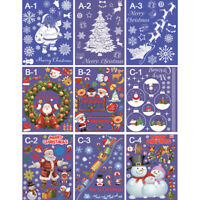 Christmas Sticker Home Window Door Glass Wall Decals Restaurant Hotel  *