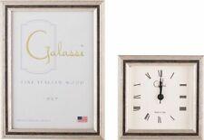F. G. Galassi Handmade Fine Italian Wood Silver /Black Channel Clock cl29534