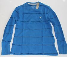 NWT! AMERICAN EAGLE Mens AE Crew Shirt Sweater Top Vintage Fit Blue, L