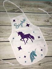 Personalized kids apron, Kids Unicorn Apron