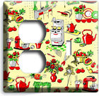 Retro 50's Kitchen Appliances Pattern Light Switch Outlet Wall Plates Home Decor photo