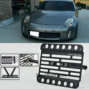 For 06-08 Nissan 350Z Front Tow Hook License Plate Mount Relocator Bracket