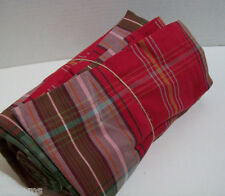"""Pottery Barn Holiday Multi Colors Newbury Plaid Cotton Tablecloth 70"""" X 108"""" New"""