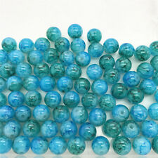 DIY 50 Pcs 6mm Loose Beads Round Spacer Double Colors Glass Jewelry making #01