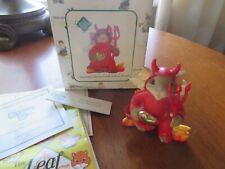 "Charming Tails ""You'Re My Little Devil With A Heart Of Gold"" Halloween ~ Nib"