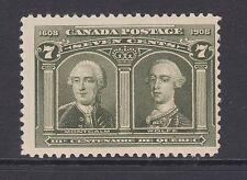 Canada Sc 100 MLH. 1908 7c Montcalm & Wolfe F-VF