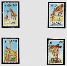 KENYA SC 491-94 NH SET of 1989 - WWF - ANIMALS - GIRAFFE