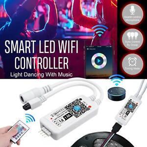 Smart WiFi LED Controller RGB Strip Lights App Control for Alexa Google Home UK