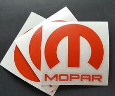 """3 X Mopar Vinyl Decal Sticker Dodge Jeep, 3""""X 3''. RED. DIE CUT"""