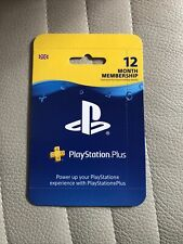 SONY PlayStation Plus 12 Month Subscription Membership . PSN-PS5-PS4 UK NEW 365