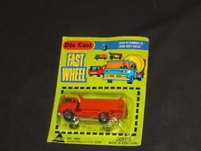 OLD DIECAST TRUCK YATMING FAST WHEEL DUMP TRUCK NEW IN PACKAGE MADE HONG KONG