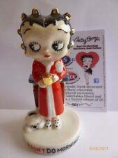 WADE BETTY BOOP DONT DO MORNINGS RED DRESS GOLD CURLERS LE 20