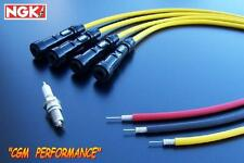 Spark Plug Ignition Wires Cables Set, Yellow Yamaha VMax VMX12  V Max  VMX 1200