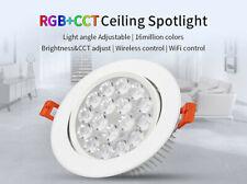Einbaustrahler LED 9W RGB + CCT Farbe + Weiß Mi-Light FUT062 WLAN Funk Strahler