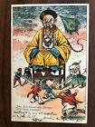 CHINA OLD POSTCARD WAR CHINA JOHN BULL CHINESE EMPEROR BATTLE TO FRANCE 1900 !!