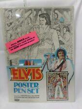 Vintage Elvis Presley Craft House Poster Pen Set With Poster 1977 Sealed