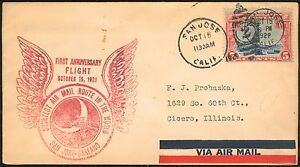 1929 #C11 1st Anniversary FLIGHT SHORTEST Air Mail Route SAN JOSE to OAKLAND