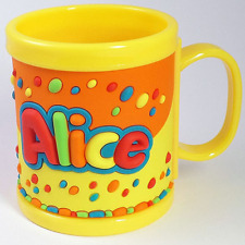 Tazza di Plastica My Name Personalizzata con Nome in Rilievo -Alice- Clearco
