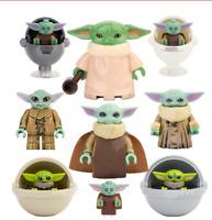 9 Pcs / Set Minifigures Baby Yoda Children Yoda Mandalorian Star Wars Lego MOC