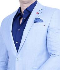 Herren Einknopf Sakko Slim-Fit Blazer Casual Jackett Anzug Jacke Einreiher Polo