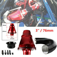 "3"" / 76mm Car High Flow Air Power Intake Filter Cold Air Inlet Cleaner Red Steel"