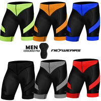 Mens Cycling Shorts Coolmax Padded Compression MTB Bicycle Bike Short S to 2XL