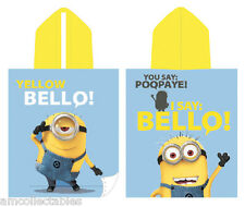 I EASY DESPICABLE - MINIONS - BATHROOM HAND TOWEL PONCHO BELLO 115x50 CHILDREN