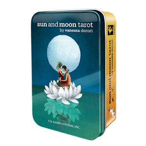 NEW Sun and Moon Tarot Deck in Collectible Tin US Games Mini Cards Travel Size!