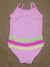 Baby Girls Pink Swimming Costume Swimsuit with Pretty Frill Detail 9-12 months