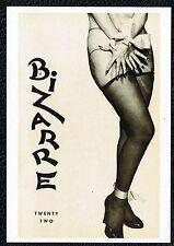 BIZARRE Postkarte John Willie Erotik Akt Fetisch BDSM Bondage Nylons sexy girl